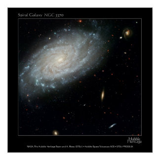 渦状銀河NGC 3370 ポスター