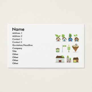 温室のベクトルIcons.aiの名前、住所1、A… 名刺