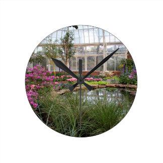 温室の栄光 ラウンド壁時計