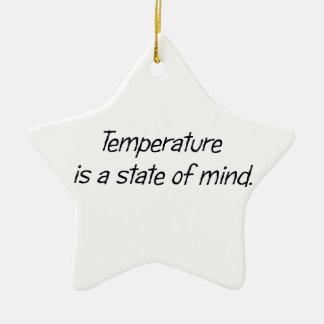 温度は精神状態です セラミックオーナメント
