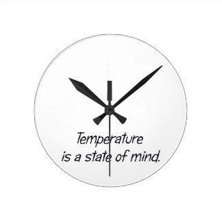温度は精神状態です ラウンド壁時計