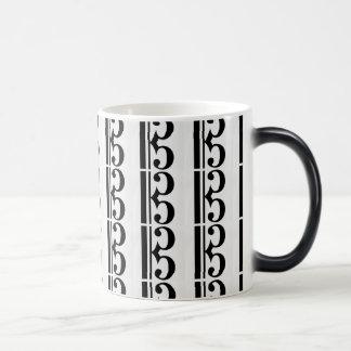 温度敏感なALTOクレフ、音符記号のマグ マジックマグカップ