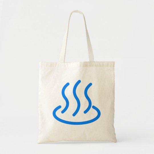 温泉マーク2(青色) トートバッグ