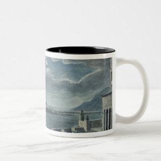 港およびCobb、月光によるLyme Regis ツートーンマグカップ