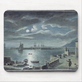 港およびCobb、月光によるLyme Regis マウスパッド