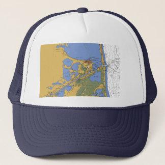 港のイザベルテキサス州航海のな港の図表の帽子 キャップ