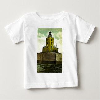 港のオースティンミシガン州の郵便はがきの灯台 ベビーTシャツ