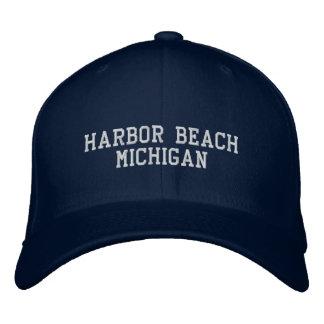 港のビーチ 刺繍入りキャップ