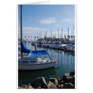 港のボート カード