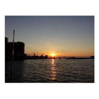 港の日の出 ポストカード