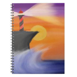 港の日没のノート ノートブック