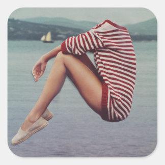 港の暖かいセーター スクエアシール