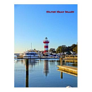 港の町の灯台- Hilton Head Island SC ポストカード