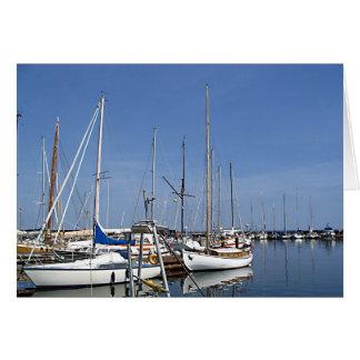 港の航行ボート カード
