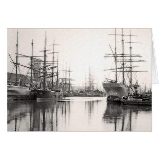 港の船 カード