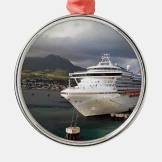 港の遊航船 メタルオーナメント