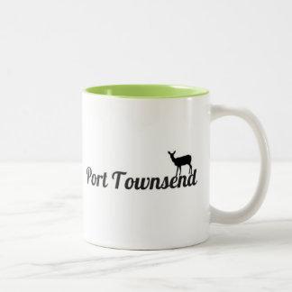 港のTownsendのシカのマグ ツートーンマグカップ