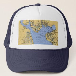 港シャーロット、フロリダの航海のな図表の帽子 キャップ