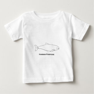 港ネズミイルカのロゴ(線画のイラストレーション) ベビーTシャツ