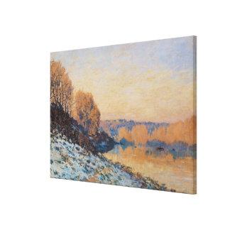 港泥灰質の、白人のフロスト1872年 キャンバスプリント