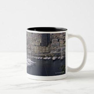 港、モンテカルロ、フランス語RivierのCoteのd ツートーンマグカップ