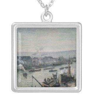 港、ルーアン1896年を聖者断絶して下さい シルバープレートネックレス
