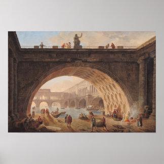 港、c.1760 ポスター