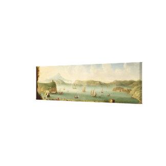 港Mahon、Minorcaの1730年代(キャンバスの油) キャンバスプリント