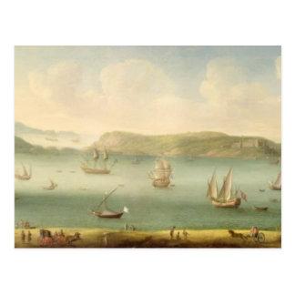 港Mahon、Minorcaの1730年代(キャンバスの油) ポストカード