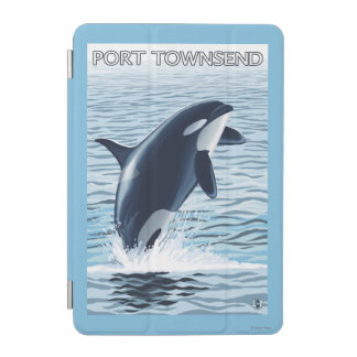 港TownsendのWashingtonOrcaの跳躍 iPad Miniカバー