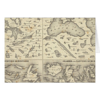 湖および島の比較サイズ カード