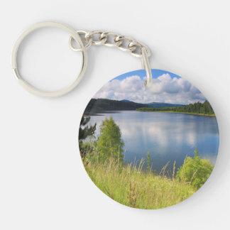 湖との景色 キーホルダー