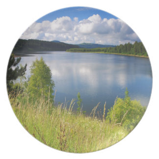 湖との景色 プレート
