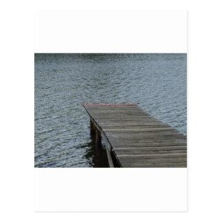 湖による波止場 ポストカード