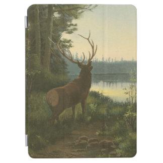 湖に見ているオオシカの背部眺め iPad AIR カバー