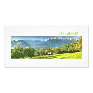 湖のアヌシーのフォトカード カード