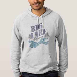 湖のアラスカの大きいスエットシャツかTシャツ パーカ