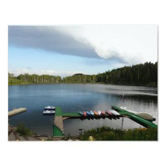 湖のカヌー カード