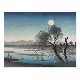 湖のシダレヤナギ ポストカード