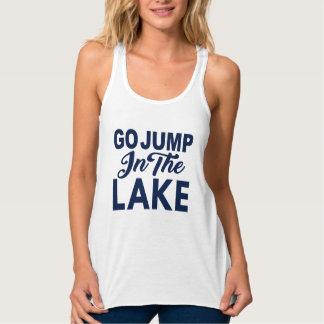湖のジャンプは行きます タンクトップ