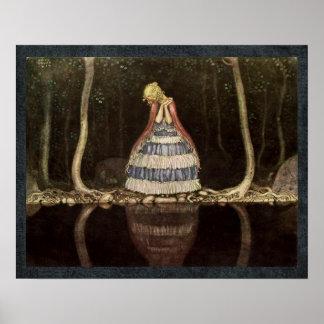 湖のスウェーデン人のおとぎ話によるインゲ ポスター