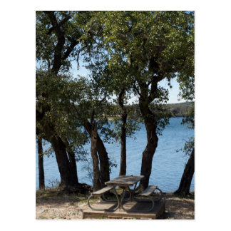 湖のピクニック ポストカード
