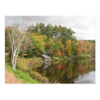 湖のボートハウス ポストカード