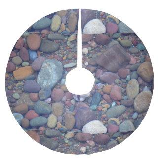 湖のマクドナルドの石 ブラッシュドポリエステルツリースカート