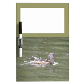 湖のメモ板のアヒル ホワイトボード