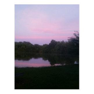 湖の反射 ポストカード