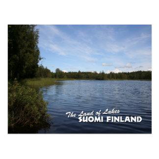 湖の土地: Suomiフィンランド ポストカード