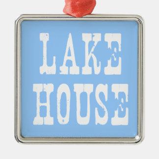 湖の家の青 メタルオーナメント