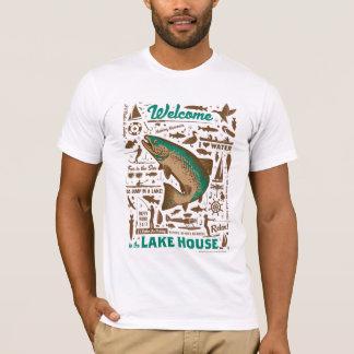 湖の家パターン Tシャツ