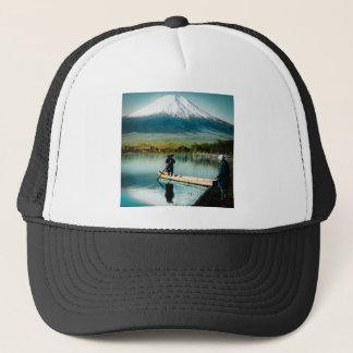 湖の山中町の富士のヴィンテージからの富士山 キャップ